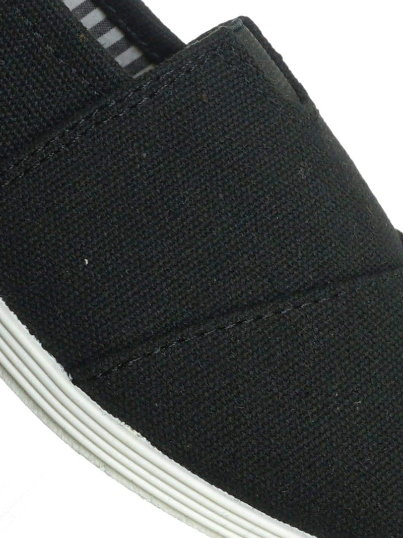 Black White / Murphy23 Classic Alpargata Canvas Sneaker - Unisex Foam Padded Slip On Flats