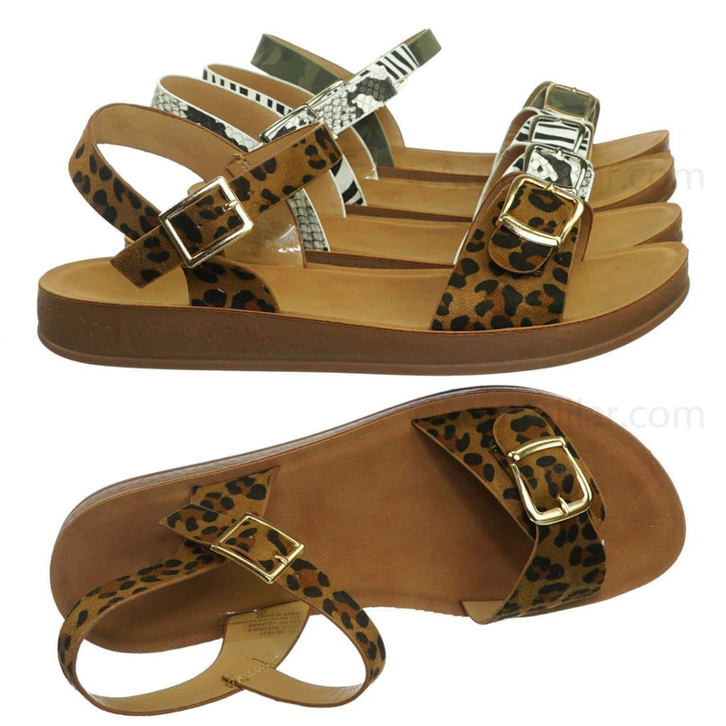 Reform9 Comfortable Flatform Open Toe Sandal w Rubber Outsole & Ankle Strap