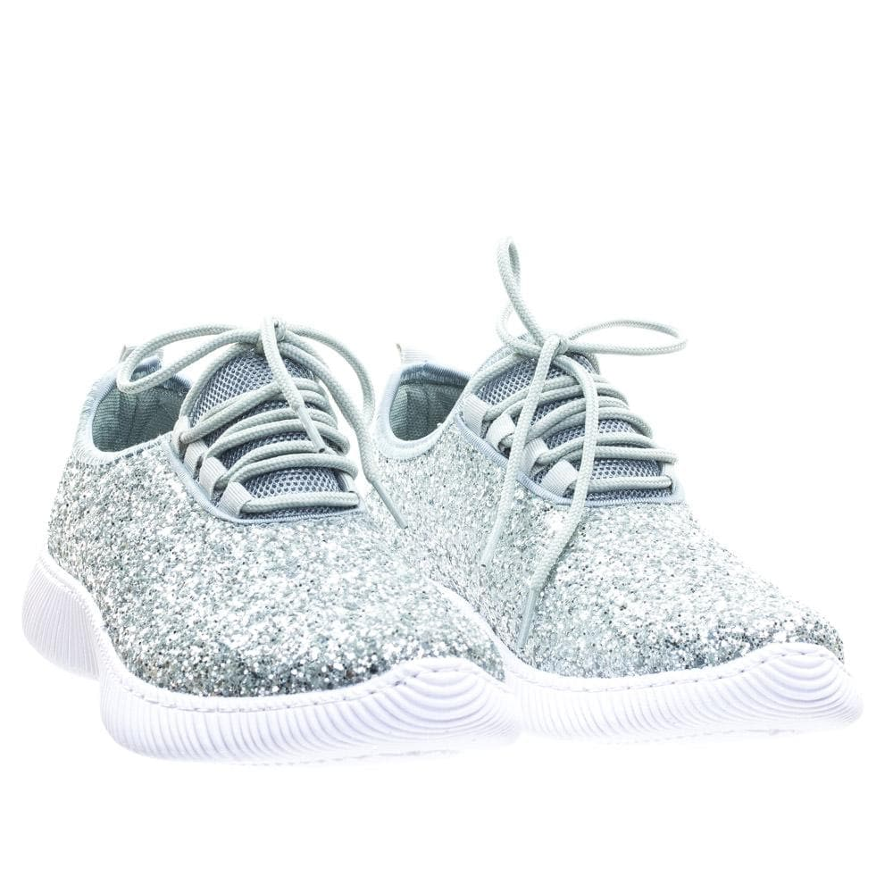 Remy18 by Forever, Lace up Rock Glitter