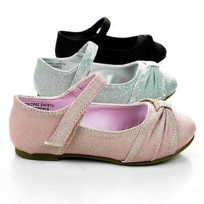 Urbi2SQ by Happy Soda, Infant Toddler Baby Girl's Mary-Jane Round Toe Flats w Glitter - Aquapillar.com