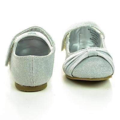 Urbi2SQ Infant Toddler Baby Girl's Mary-Jane Round Toe Flats w Glitter