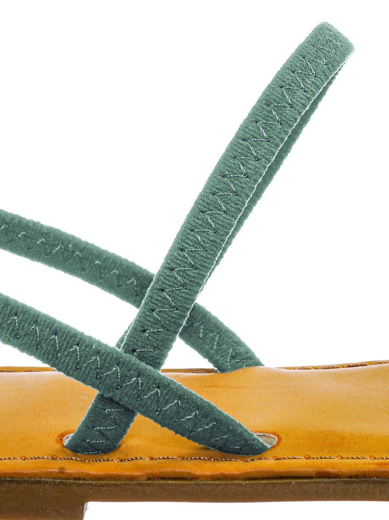 Sage Green / Waterfront24 Summer Multi Strap Slingback Sandals - Womens Open Toe Elastic Shoe