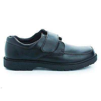 Joe Black Pu By Jelly Beans, Children Girls Round Cap Toe Slip On Hook & Loop Fastening Dress Shoes