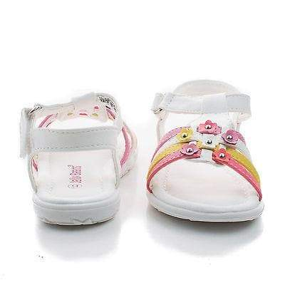 Yummy By Jelly Beans, Infant Girl Flower Studded Hook & Loop Open Toe Flat Sandals