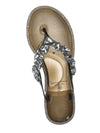 Smoke Gray / Joanie214 Smoke Gray Lucite Rhinestone Crystal Jelly Sandal - Jelly Thong Flip Flip