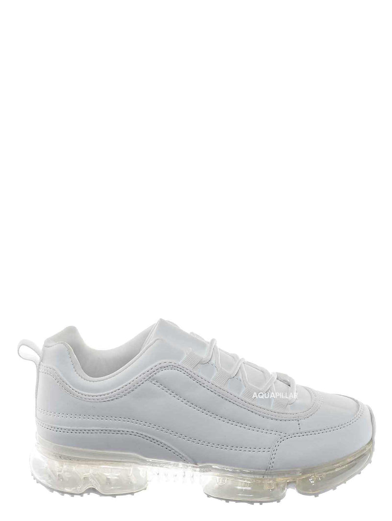 White / Flow29 Chunky Translucent Clear Bottom Sneakers