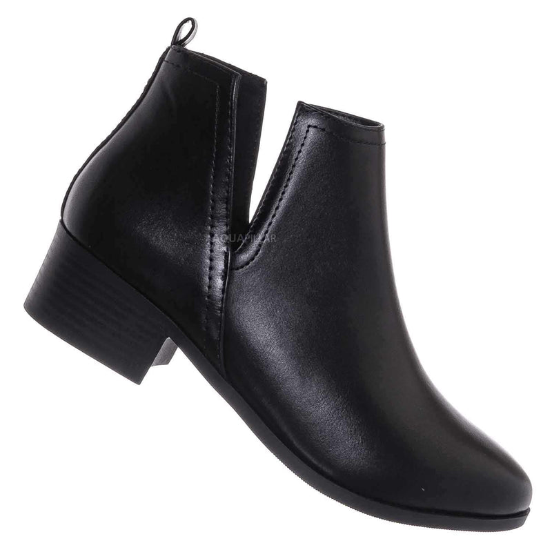 Rapid Slip On Cut Out Bootie - Western Chelsea Split Shaft Ankle Boot