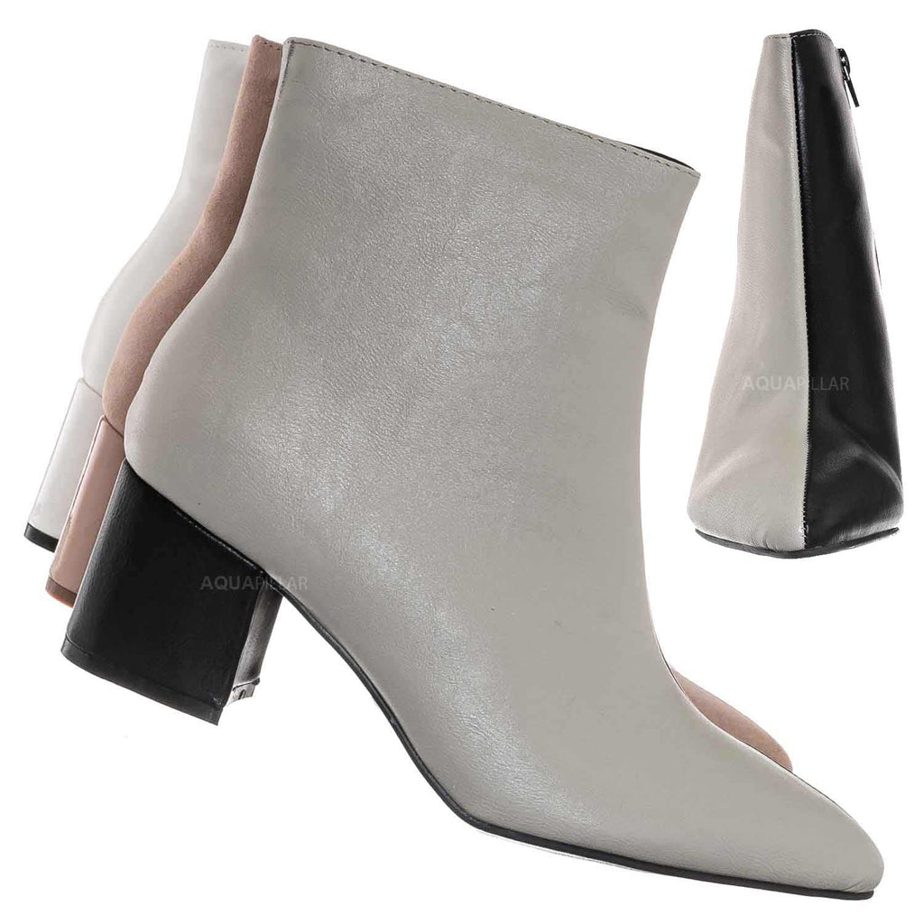 Rapid17 Two Tone Double Sided Split Color Block Bootie