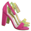 Mania03 Chunky Block High Heel Sandal - Open Toe Retro Ankle Strap Dress Shoes