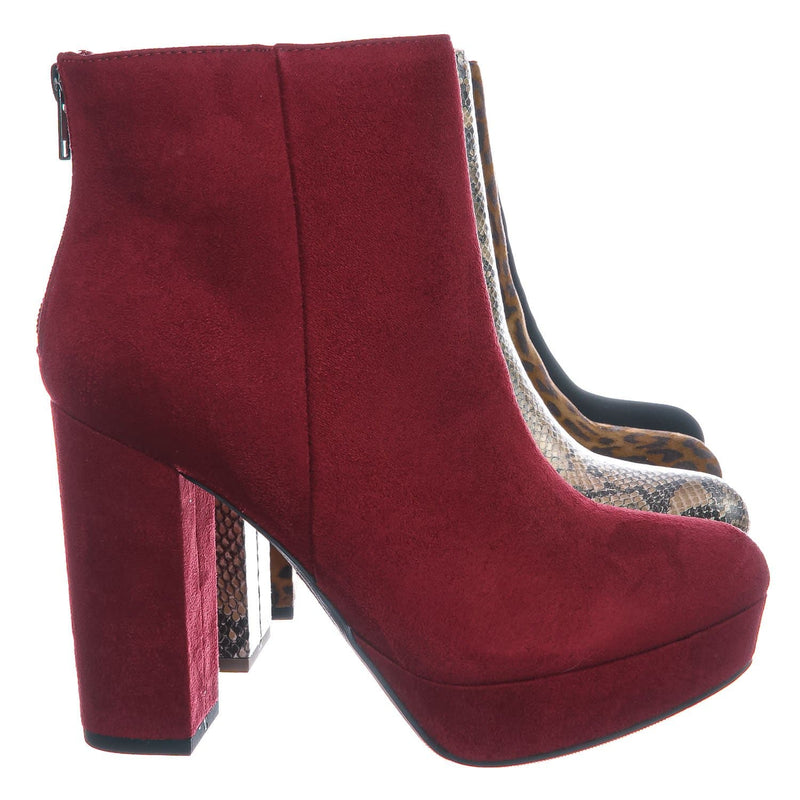 Meeting Chunky Block Heel Platform Dress Bootie - Women Round Toe Dress Shoe