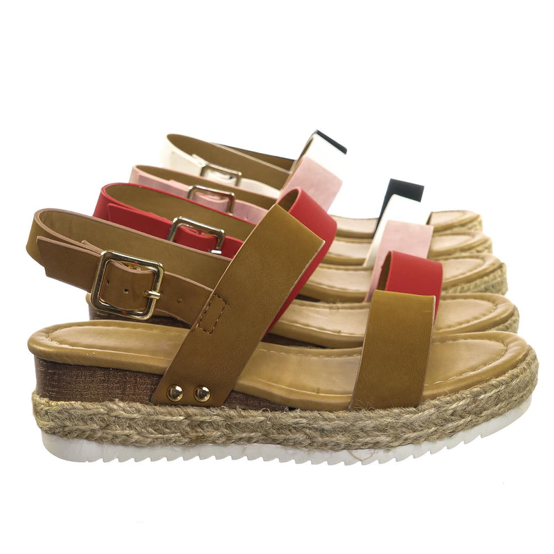 Sensational2K Children Espadrille Flatform Sandal - Girl Kids Open Toe Platforms