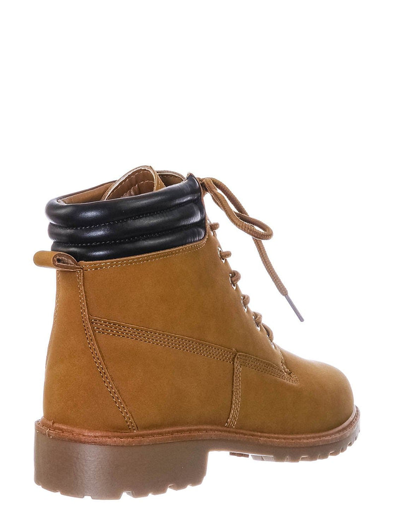 Camel Brown / Whitney25 Lightweight Fashion Work Boots - Lug Sole Welted Grunge Ankle Bootie