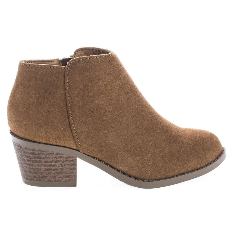 MugIIS Girls Simple Ankle Bootie - Children Kids Round Toe Block Heel Boots