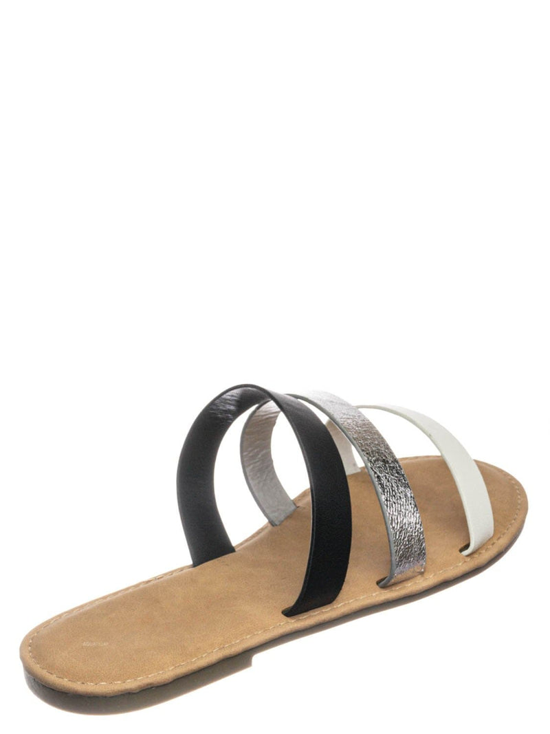 White Multi / Waterfront70 3 Strap Open Toe Slide In Sandal - Women Color Block Slippers