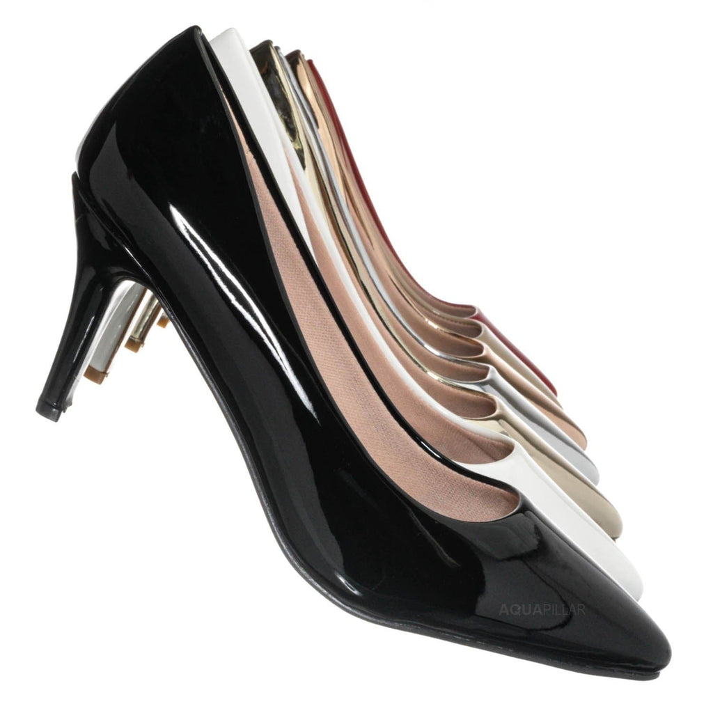 Black / Sanzi2 Low Stiletto Heel Pumps - Slip On Dress Shoes Solid Or Animal Prints