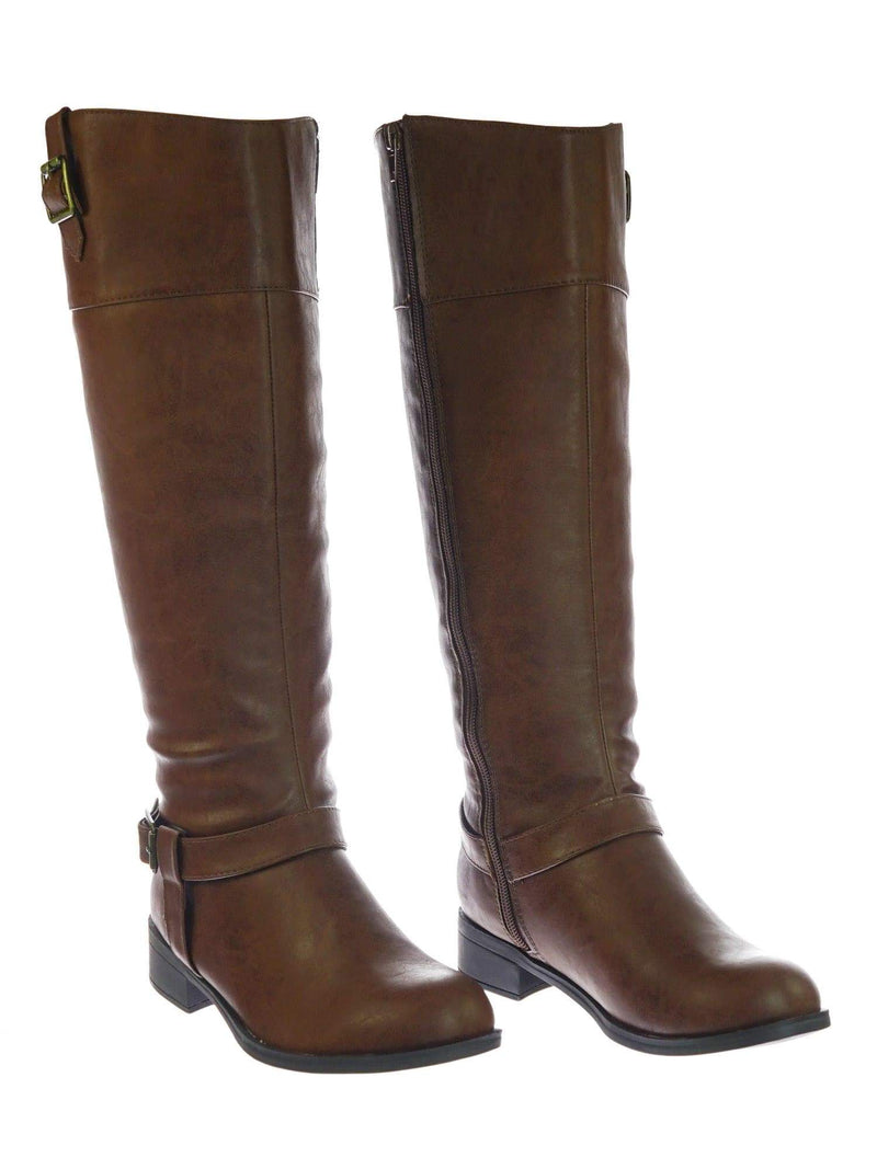 Carpet DTanPu Womens Fashion Riding Boot w Harness and Block Heel, Equestrian Inspired