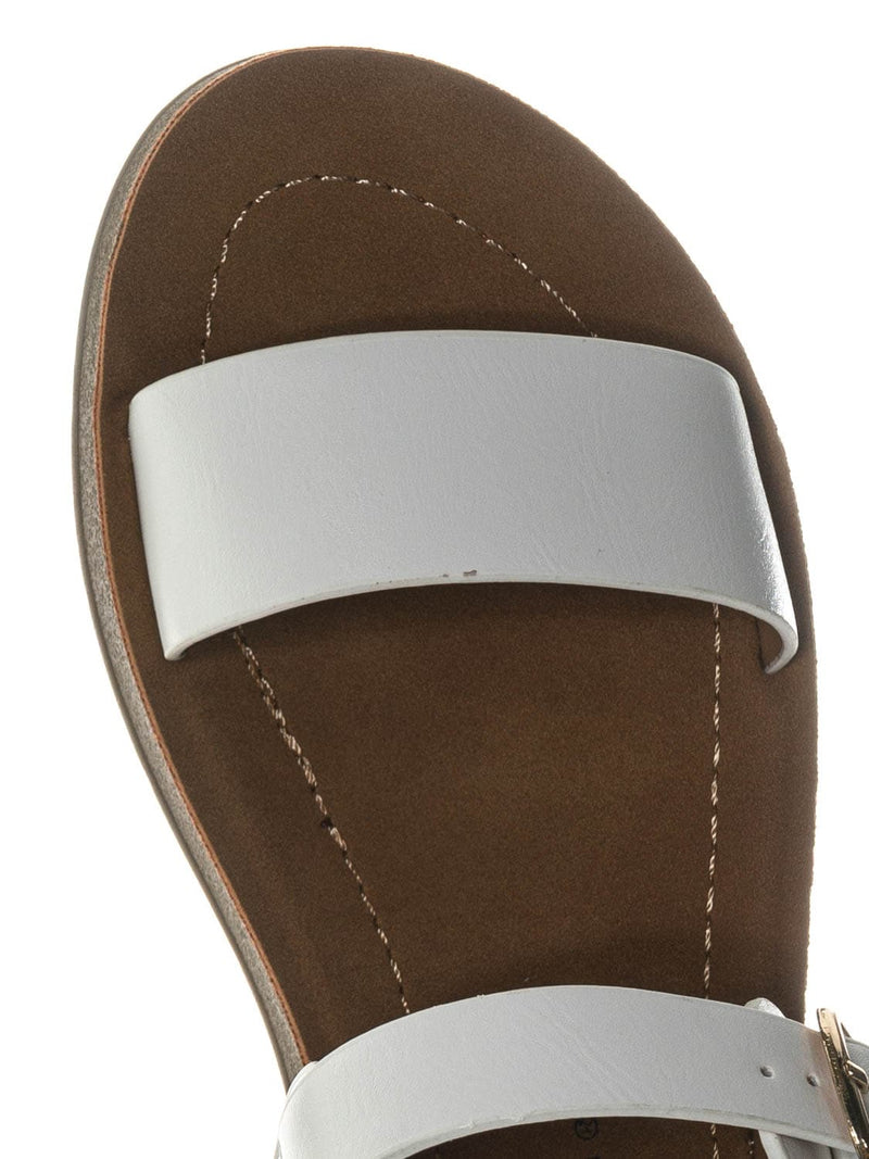 White Pu / Plenty2 Kid Soft Flexible Open Toe Flat Sandal - Children Girl Foam Outsole