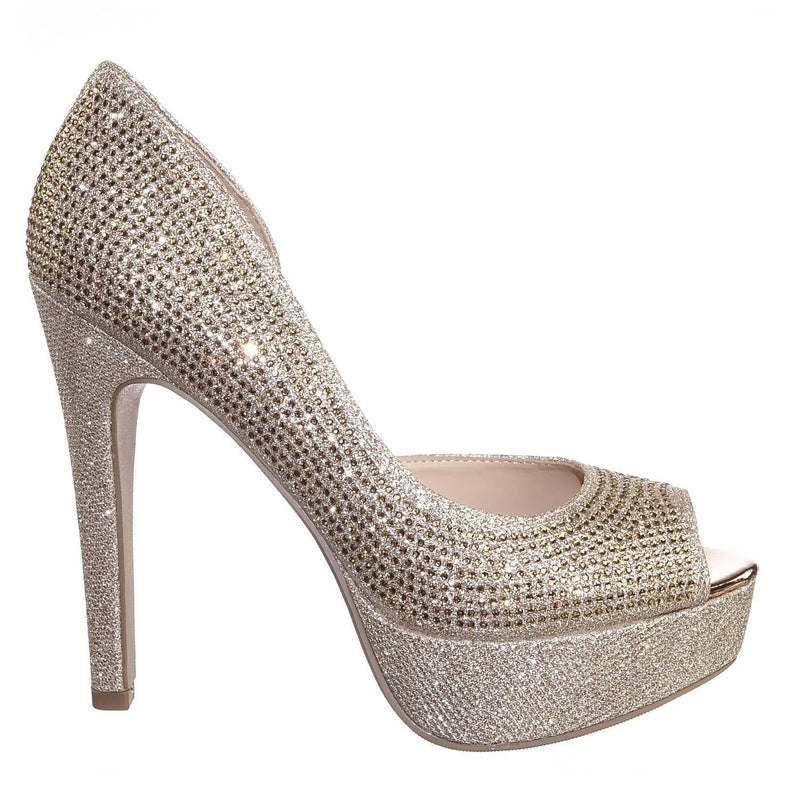 After PennyShm Rhinestone Crystal Glitter High Heel d'Orsya Evening Party Dress Pump