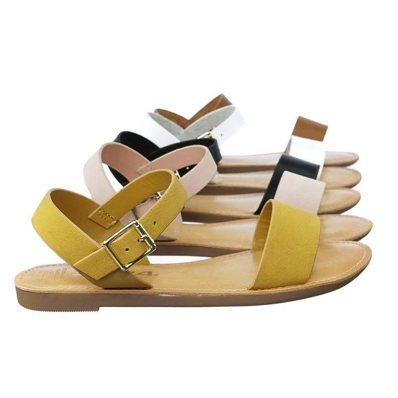 Bigboss2 Mustard Yellow Children Flat Sandal For Girls, Open Toe Buckle Straps