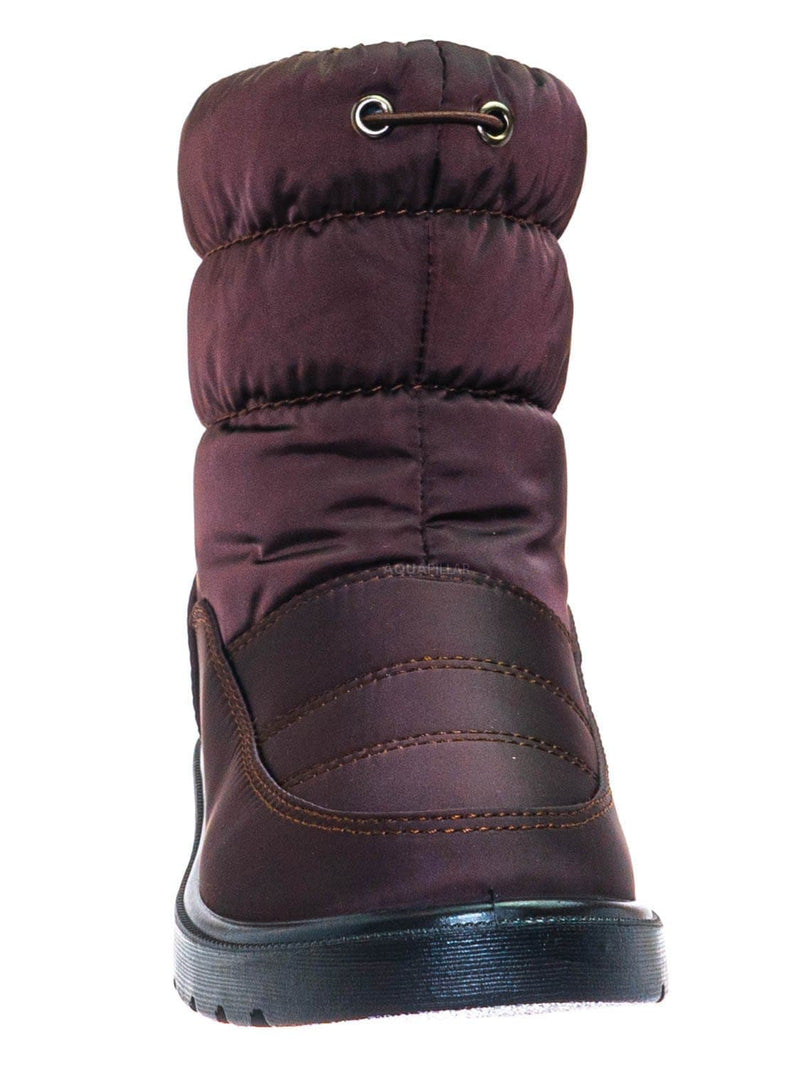 Brown / Coleen1A Toddler Quilted Nylon Snow boots - Babys Insulated Utilitarian Boot