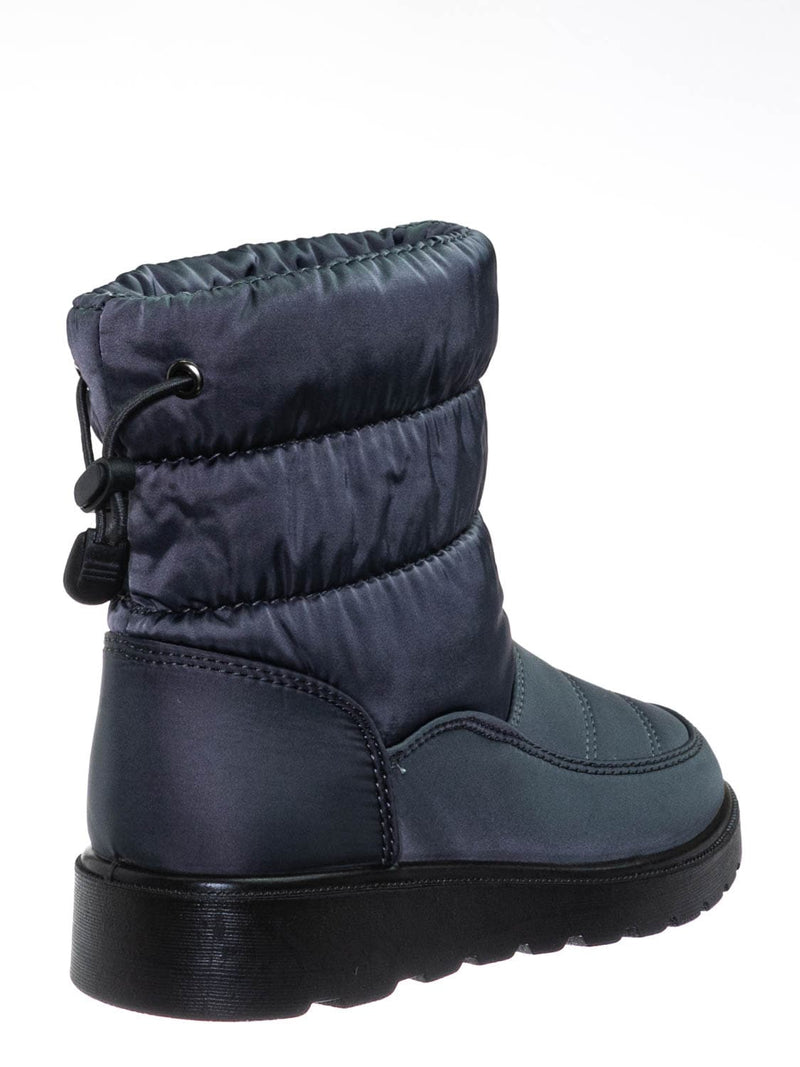 Gray / Coleen1A Toddler Quilted Nylon Snow boots - Babys Insulated Utilitarian Boot