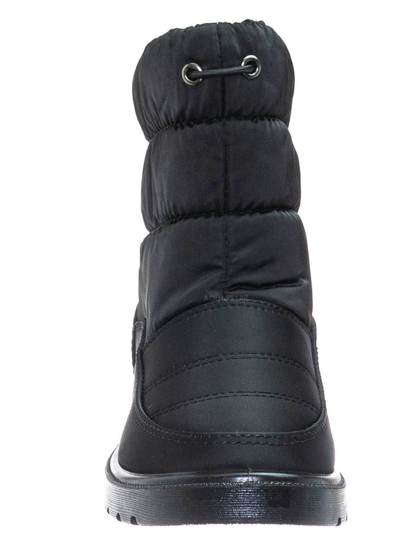 Black / Coleen1K Children's Quilted Nylon Snow boots - Kids Insulated Utilitarian Boots