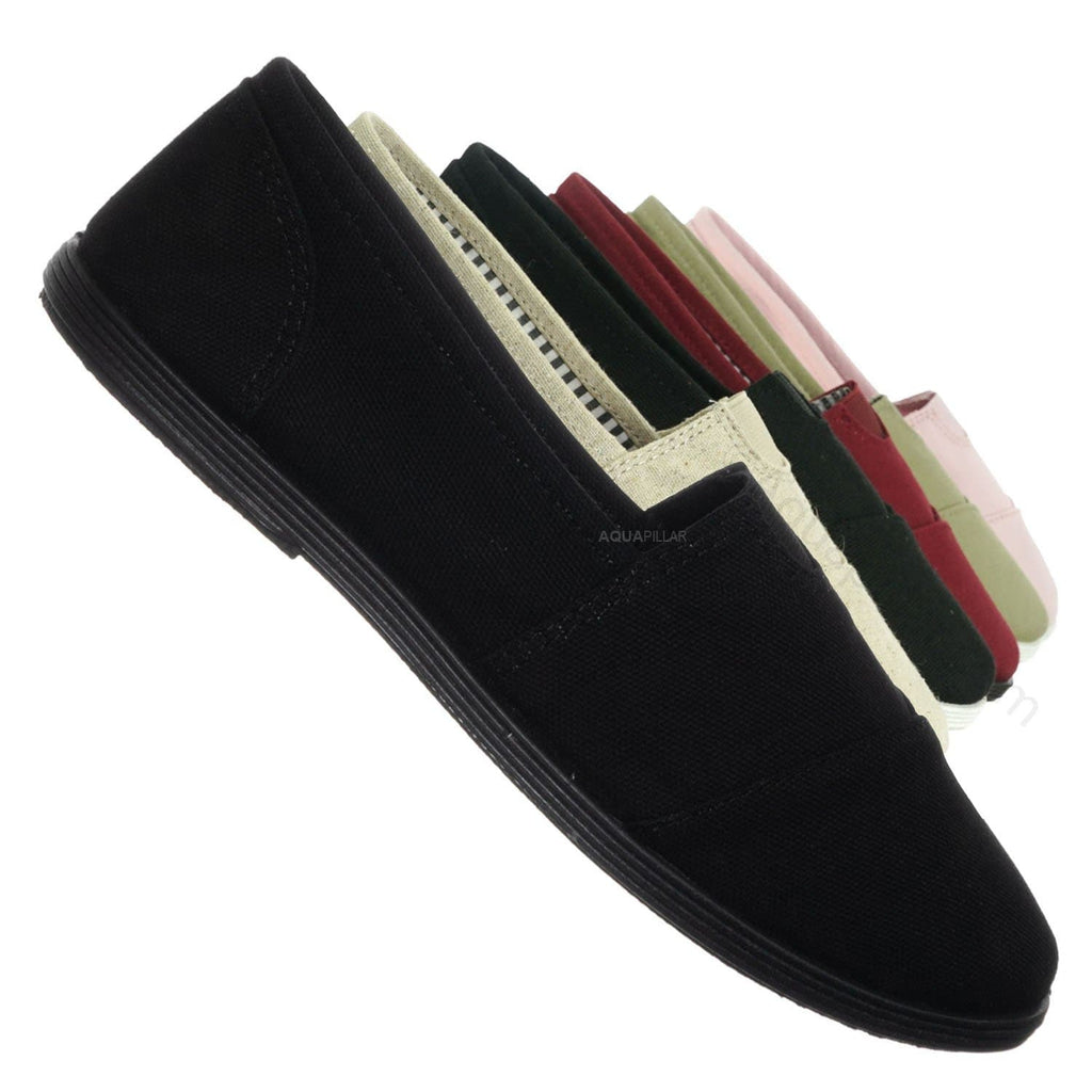 All Black / Murphy23 Classic Alpargata Canvas Sneaker - Unisex Foam Padded Slip On Flats