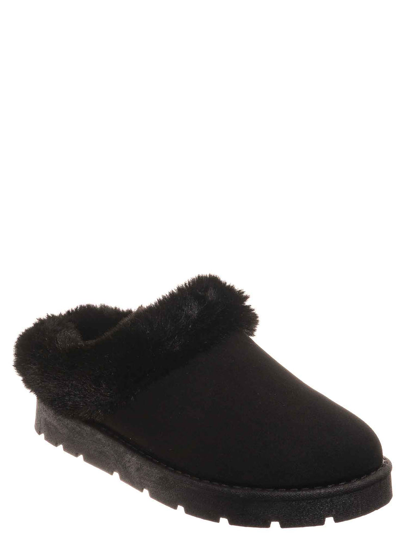Black / Frozen31 Faux Fur Moccasin Slipper - Winter Fluffy Cozy Bootie