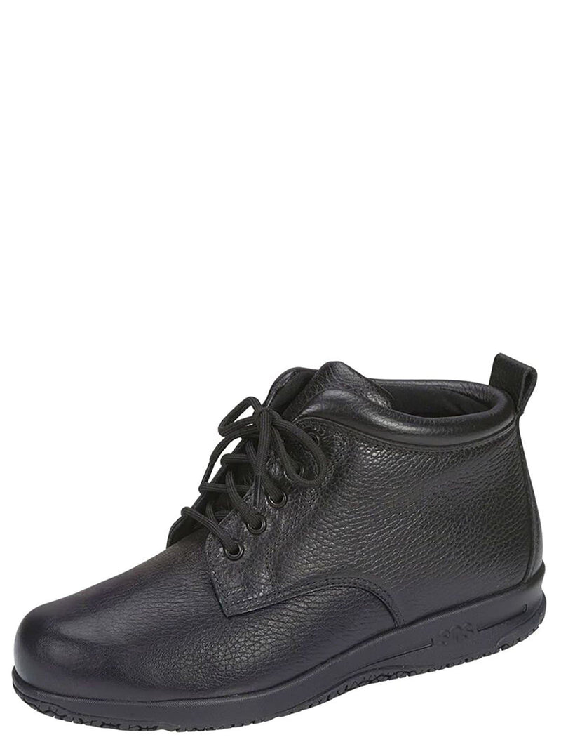 Black / Wide  / Alpine Non Slip Lace Up Boot - Womens Gripped Sole Water Resistant Shootie