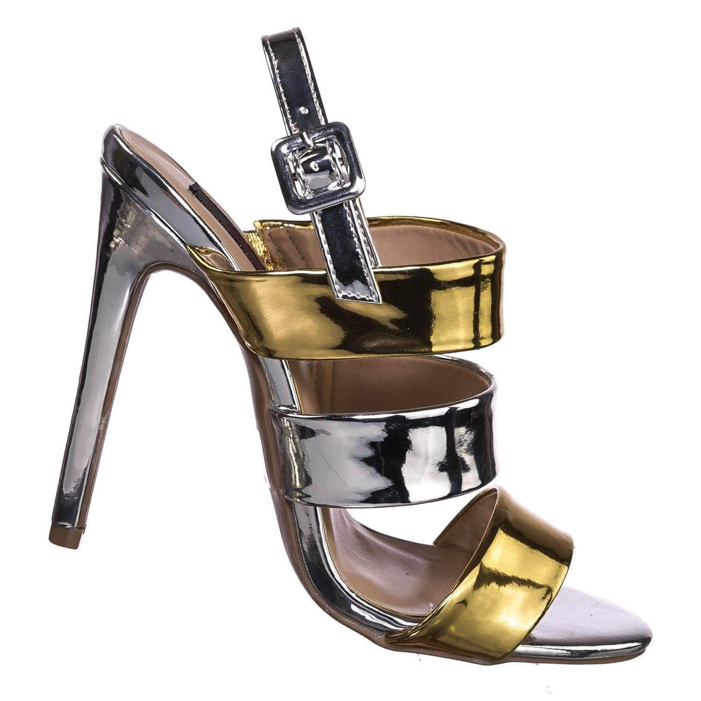 Carmela84 PnkRG High Heel Stiletto Slingback Dress Sandals - Women Strappy Open Toe