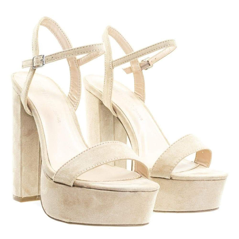 Fanny01 by Wild Diva Retro Classic Chunky Block Heel Platform Open Toe Dress Sandal