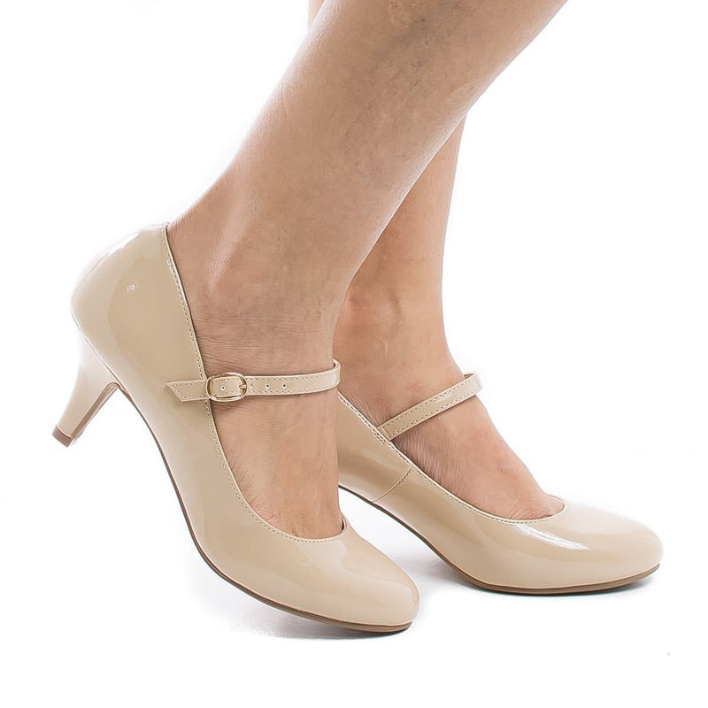 Kirk By City Classified, Round Toe Mary Jane Extra Padded Insole Comfort Pumps