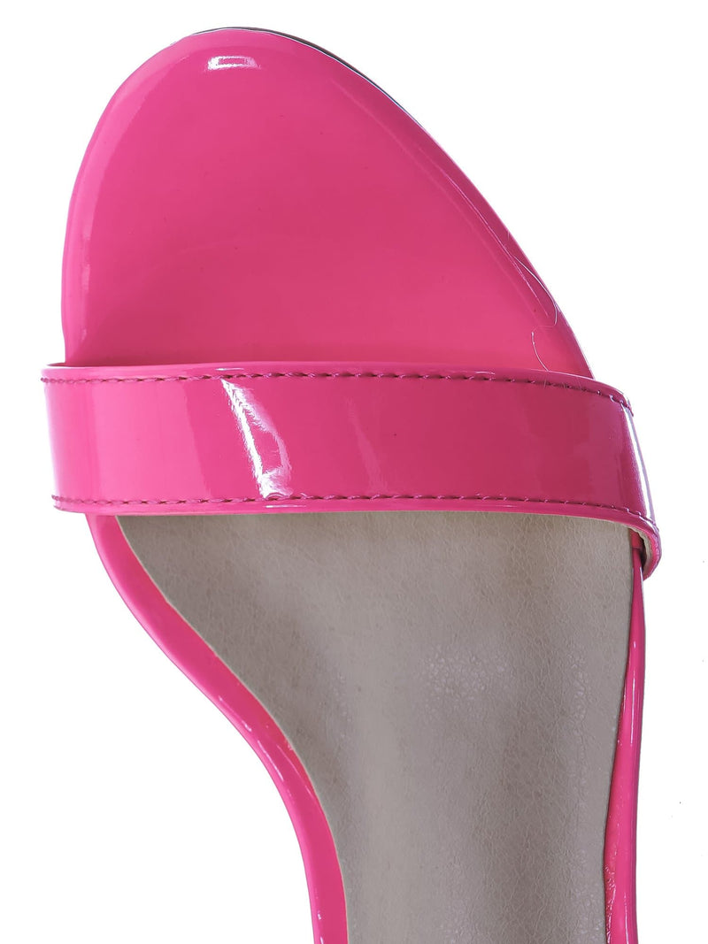 Fuchsia Pink / Rise7K Childerns Chunky Low Heel Sandals - Girls  Dressy Open Toe Shoes