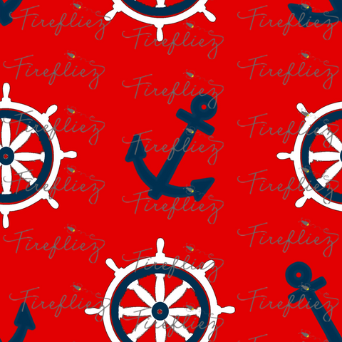 Boopity Boo sailer Red wheels fabric (Retail)