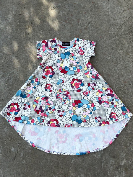 pops of flower modern dress for girl, kids clothes, girls clothes, dresses for girls