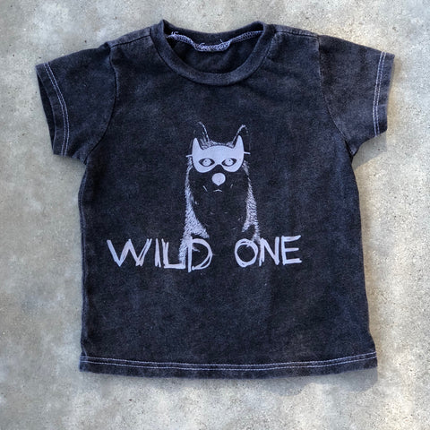 Wild One Grey Mineral Washed Tee