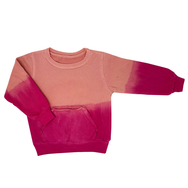 rose pink ombre hand dyed sweatshirt sweater for toddler girl, kids clothes, unisex girls boys clothes, sweatshirts sweaters for girls and girls