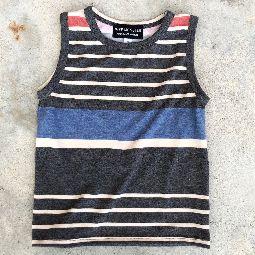 stripe muscle tank for toddlers, children, boys, girls, kids clothes, girl clothes, tanks for boys or girls