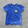 Blue Mineral Washed Flash Tee