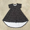 black rain drops dress for girl, kids clothes, girls clothes, dresses for girls