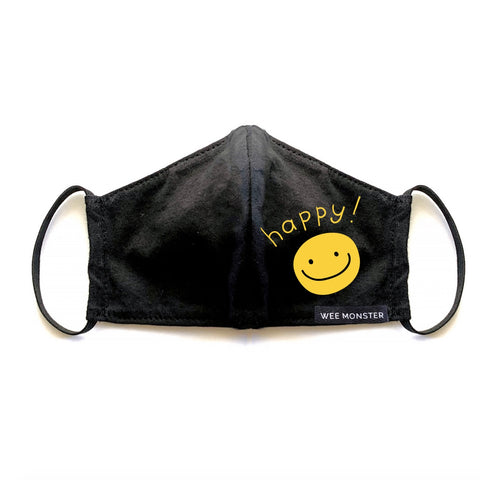 Happy - Kids Face Masks - Unisex for Boys and Girls