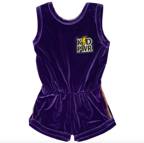 KID PWR Patch - Purple Velvet Romper