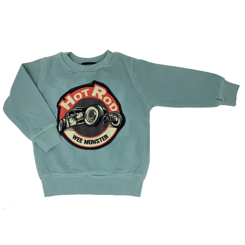 Hot Rod Blue Sweatshirt - Unisex for Boys and Girls