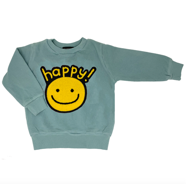 Happy Blue Sweatshirt - Unisex for Boys and Girls