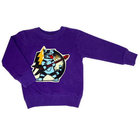 Thundercat Purple Sweatshirt - Unisex for Boys and Girls