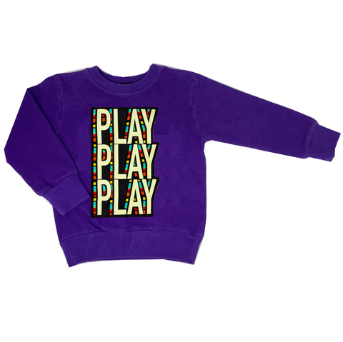 PLAY Purple Sweatshirt - Unisex for Boys and Girls