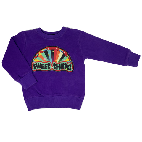 Sweet Thing Purple Sweatshirt - Unisex for Boys and Girls