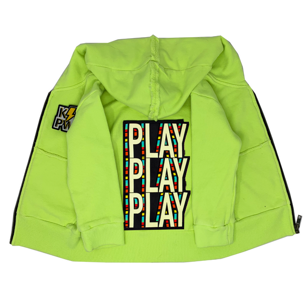 PLAY Neon Zip Hoodie - Unisex for Boys and Girls