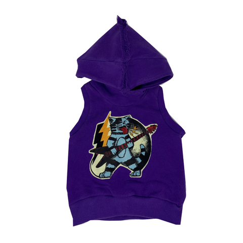Thundercat Purple Hoodie Vest - Unisex for Boys and Girls