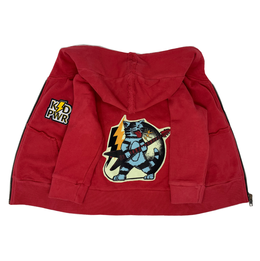 Thundercat Red Zip Hoodie - Unisex for Boys and Girls